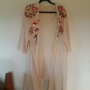 Umgee embroidered long cardigan